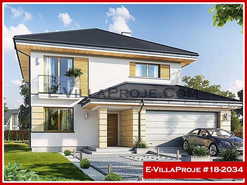 Ev Villa Proje #18 – 2034, 2 katlı, 4 yatak odalı, 2 garajlı, 191 m2