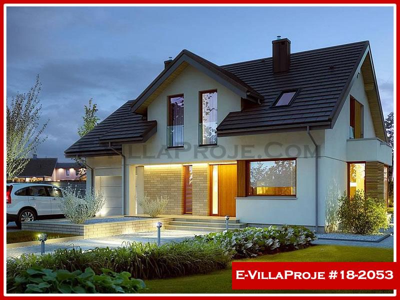 Ev Villa Proje #18 – 2053, 2 katlı, 4 yatak odalı, 1 garajlı, 236 m2