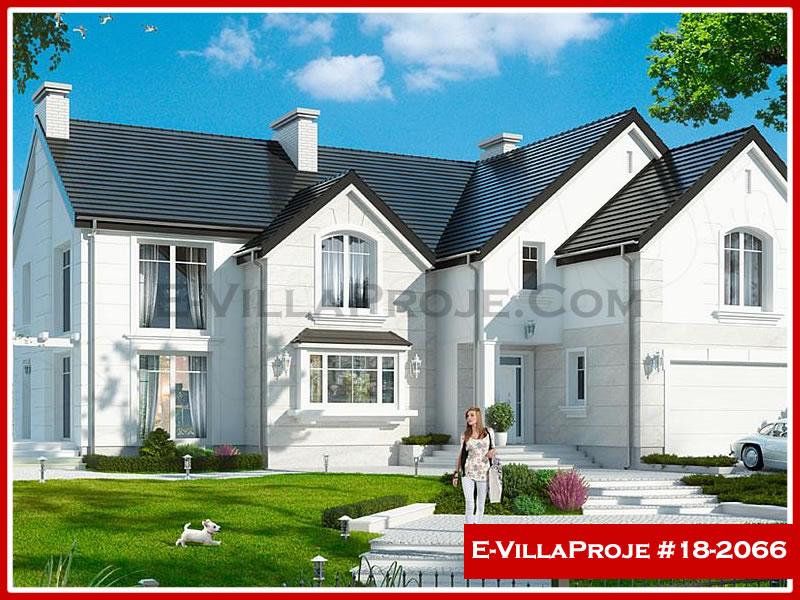 Ev Villa Proje #18 – 2066, 2 katlı, 5 yatak odalı, 2 garajlı, 383 m2