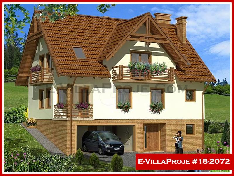 Ev Villa Proje #18 – 2072, 2 katlı, 3 yatak odalı, 2 garajlı, 239 m2