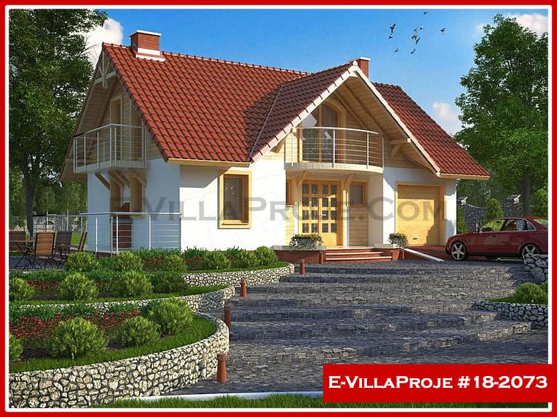 Ev Villa Proje #18 – 2073, 2 katlı, 3 yatak odalı, 1 garajlı, 160 m2