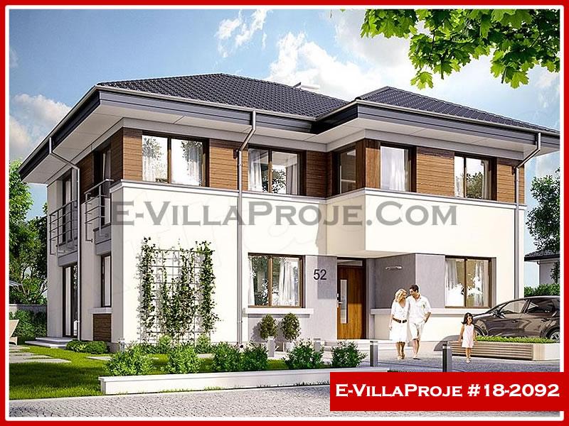 Ev Villa Proje #18 – 2092, 2 katlı, 4 yatak odalı, 0 garajlı, 235 m2