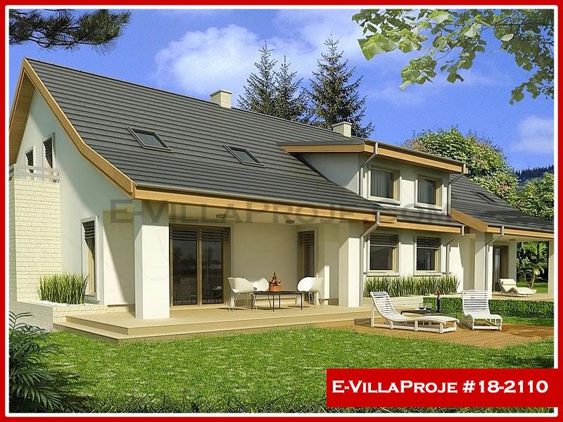 Ev Villa Proje #18 – 2110, 2 katlı, 4 yatak odalı, 1 garajlı, 213 m2