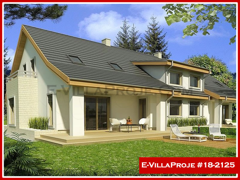 Ev Villa Proje #18 – 2125, 2 katlı, 4 yatak odalı, 1 garajlı, 211 m2