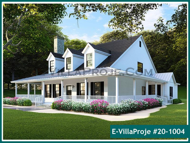 Ev Villa Proje #20 – 1004, 1 katlı, 4 yatak odalı, 3 garajlı, 202 m2