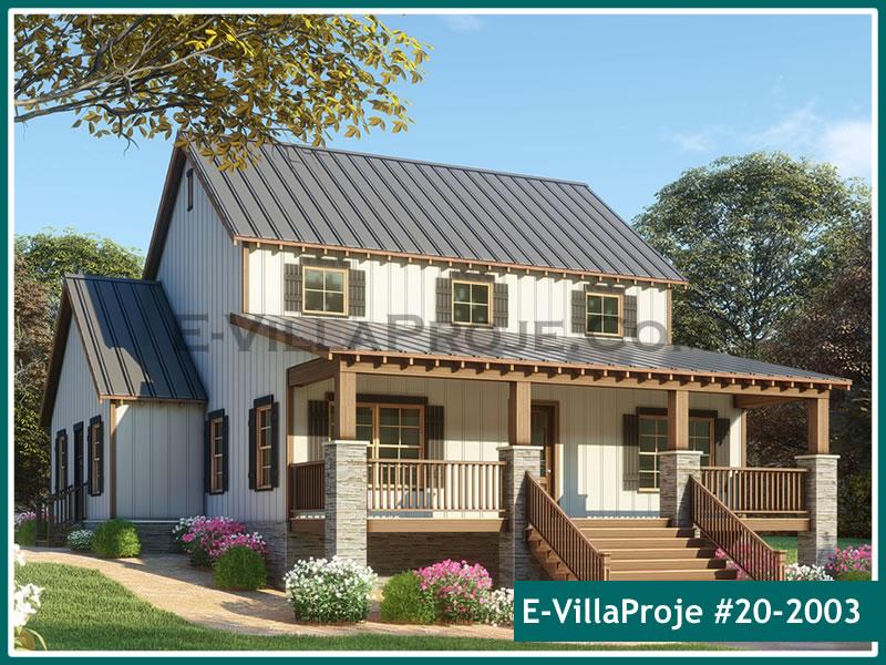 Ev Villa Proje #20 – 2003, 2 katlı, 3 yatak odalı, 0 garajlı, 224 m2