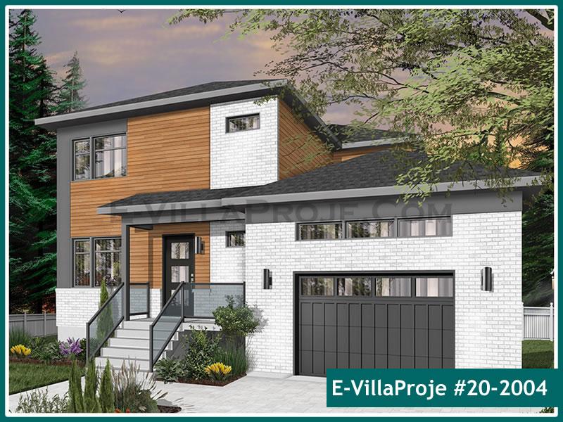 Ev Villa Proje #20 – 2004, 2 katlı, 4 yatak odalı, 1 garajlı, 194 m2