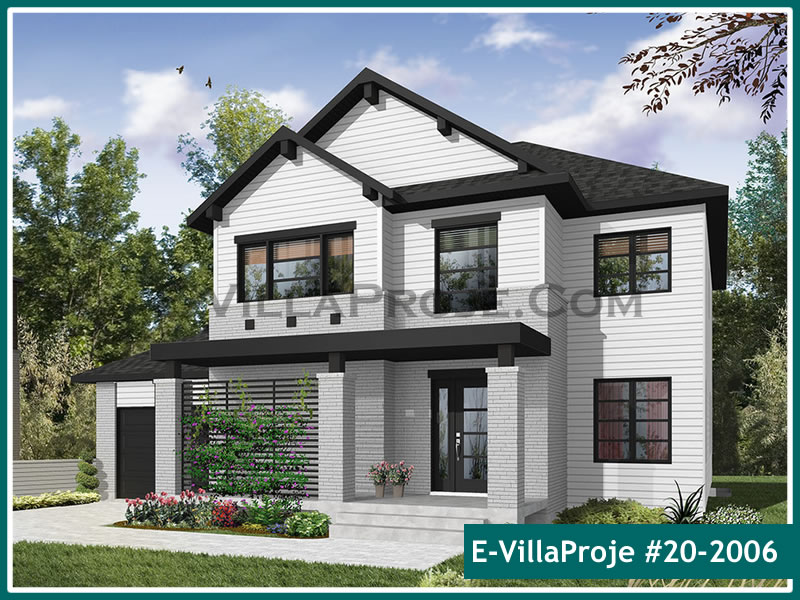 Ev Villa Proje #20 – 2006, 2 katlı, 4 yatak odalı, 1 garajlı, 184 m2