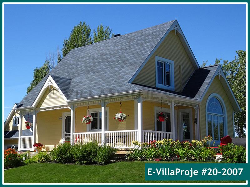 Ev Villa Proje #20 – 2007, 2 katlı, 3 yatak odalı, 0 garajlı, 110 m2