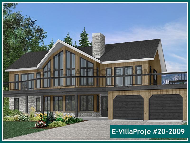 Ev Villa Proje #20 – 2009, 2 katlı, 4 yatak odalı, 2 garajlı, 279 m2