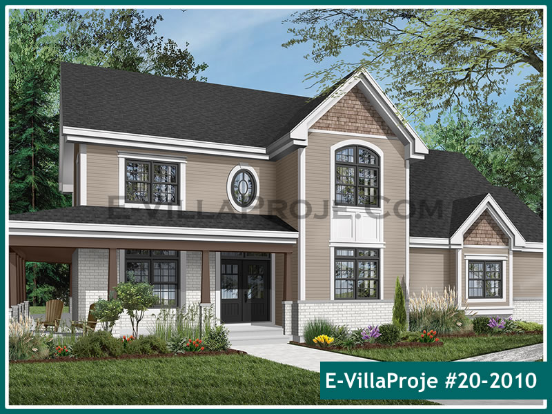Ev Villa Proje #20 – 2010, 2 katlı, 4 yatak odalı, 2 garajlı, 237 m2