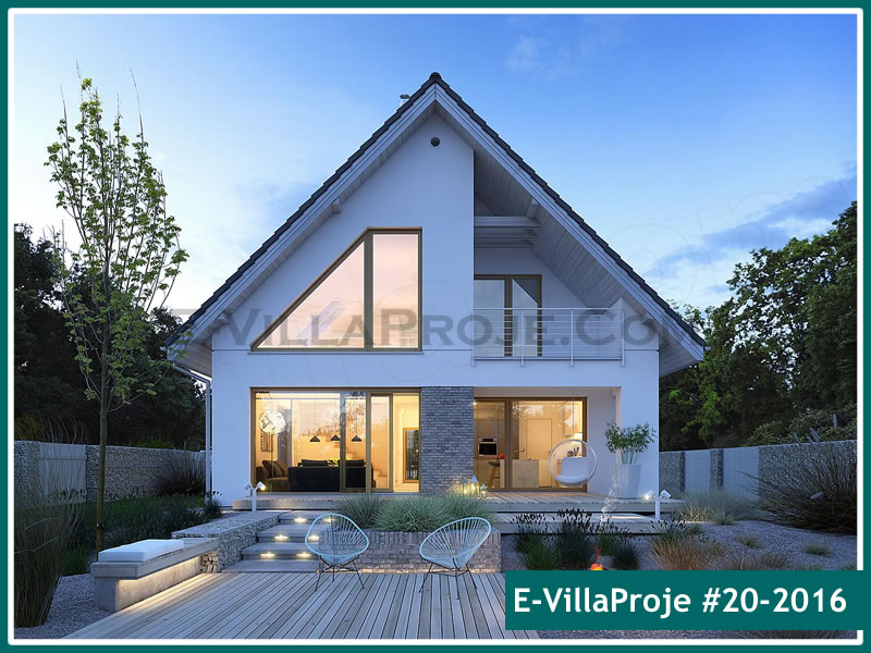 Ev Villa Proje #20 – 2016, 2 katlı, 3 yatak odalı, 1 garajlı, 226 m2