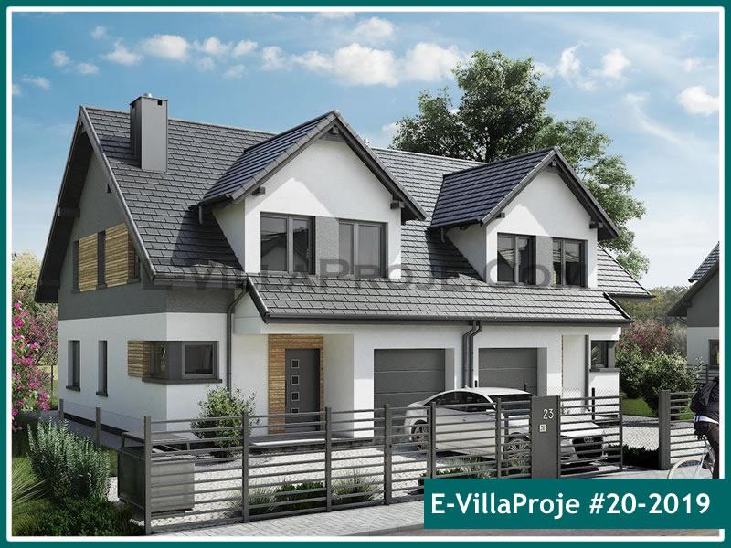 Ev Villa Proje #20 – 2019, 2 katlı, 4 yatak odalı, 1 garajlı, 148 m2