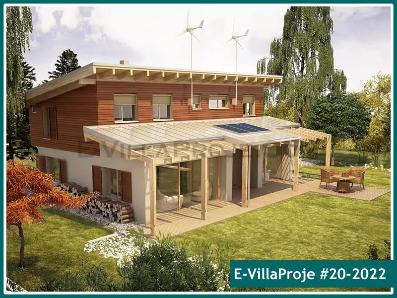Ev Villa Proje #20 – 2022, 2 katlı, 4 yatak odalı, 2 garajlı, 218 m2