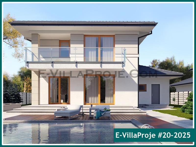Ev Villa Proje #20 – 2025, 2 katlı, 4 yatak odalı, 2 garajlı, 229 m2