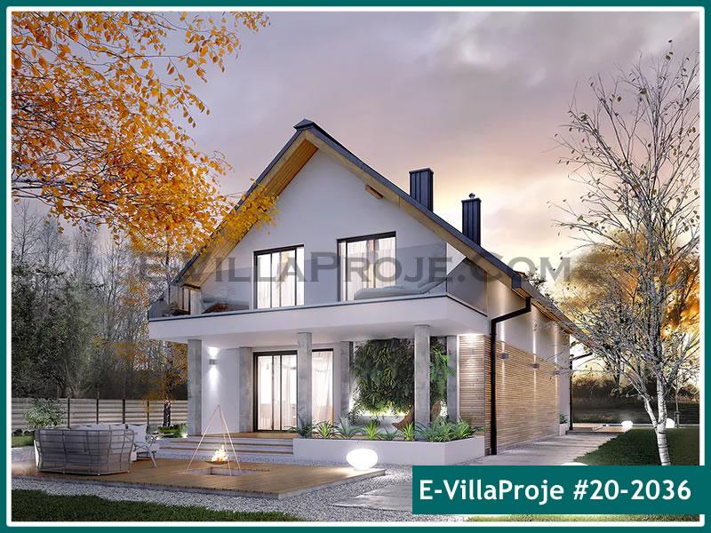 Ev Villa Proje #20 – 2036, 2 katlı, 4 yatak odalı, 2 garajlı, 240 m2