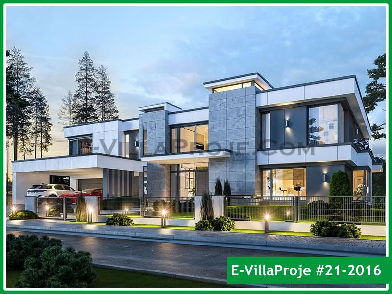 Ev Villa Proje #21 – 2016, 2 katlı, 5 yatak odalı, 2 garajlı, 648 m2