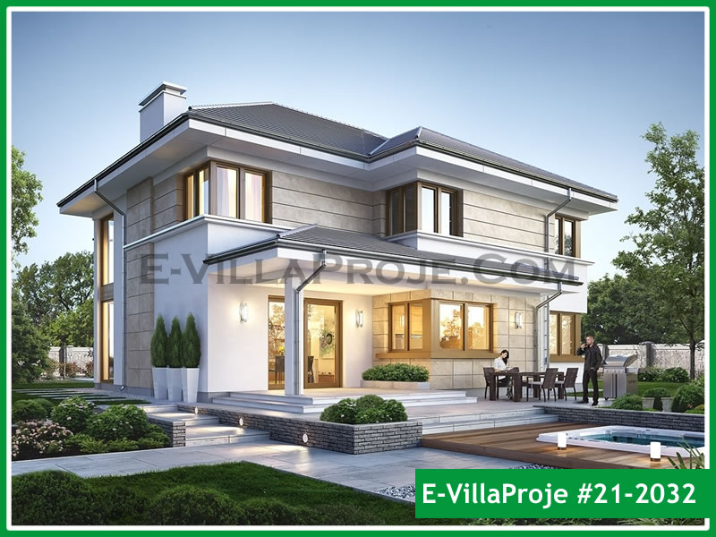 Ev Villa Proje #21 – 2032, 2 katlı, 3 yatak odalı, 2 garajlı, 280 m2