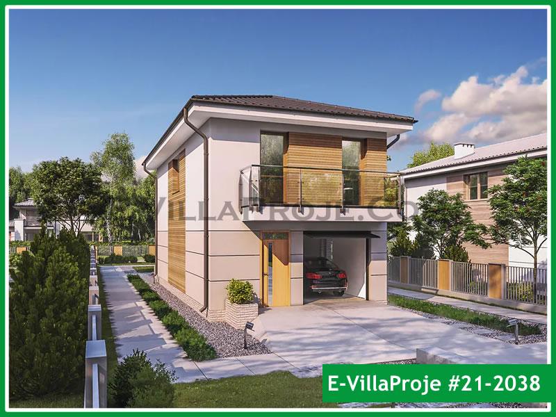 Ev Villa Proje #21 – 2038, 2 katlı, 4 yatak odalı, 1 garajlı, 137 m2