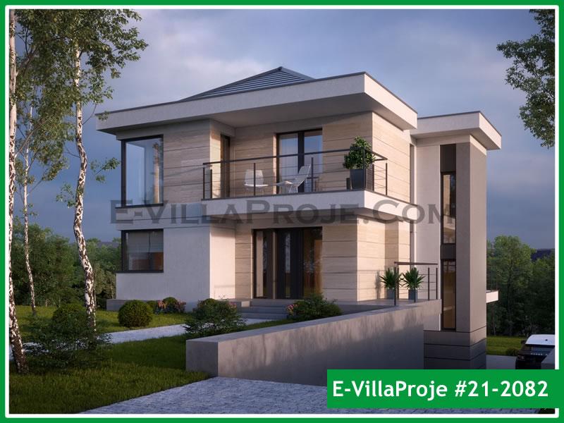 Ev Villa Proje #21 – 2082, 2 katlı, 4 yatak odalı, 2 garajlı, 234 m2