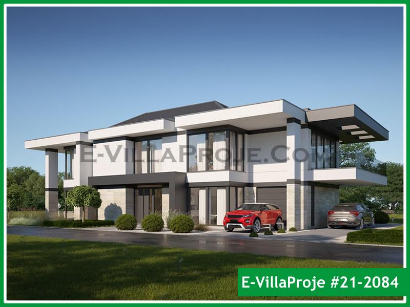 Ev Villa Proje #21 – 2084, 2 katlı, 5 yatak odalı, 2 garajlı, 457 m2