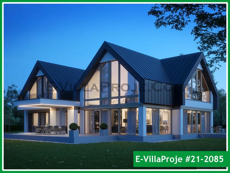 Ev Villa Proje #21 – 2085, 2 katlı, 3 yatak odalı, 2 garajlı, 473 m2