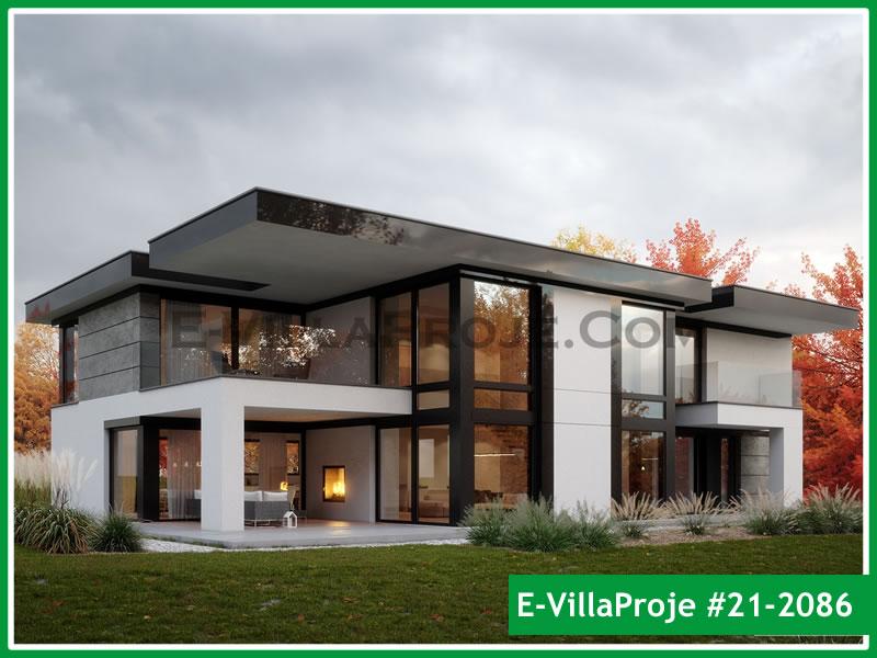 Ev Villa Proje #21 – 2086, 2 katlı, 4 yatak odalı, 2 garajlı, 367 m2