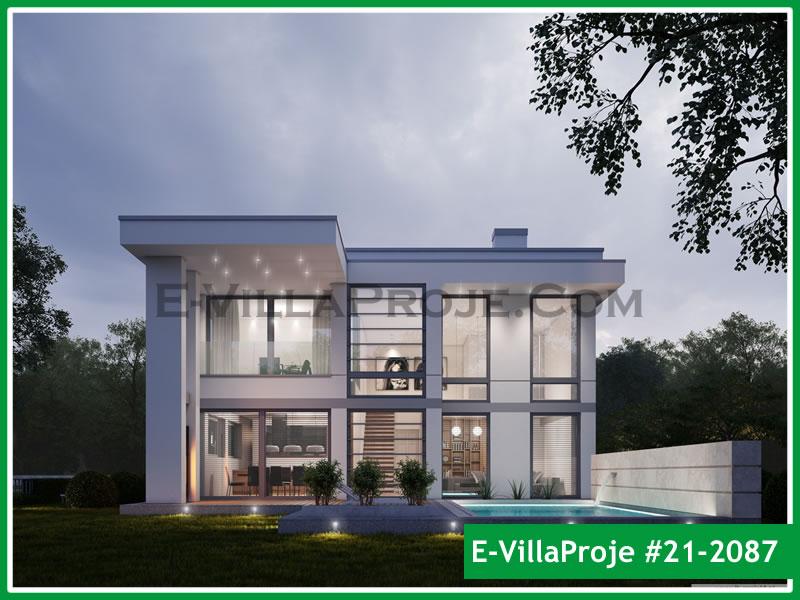 Ev Villa Proje #21 – 2087, 2 katlı, 3 yatak odalı, 2 garajlı, 300 m2
