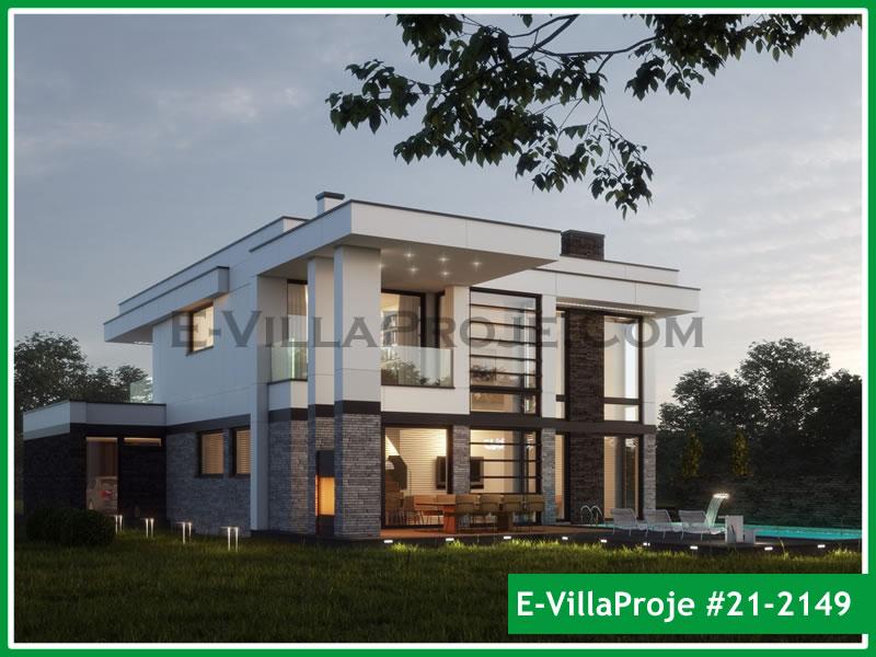 Ev Villa Proje #21 – 2149, 2 katlı, 3 yatak odalı, 2 garajlı, 298 m2