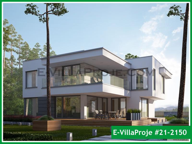 Ev Villa Proje #21 – 2150, 2 katlı, 3 yatak odalı, 2 garajlı, 241 m2