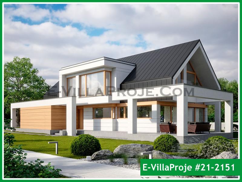 Ev Villa Proje #21 – 2151, 2 katlı, 4 yatak odalı, 2 garajlı, 343 m2