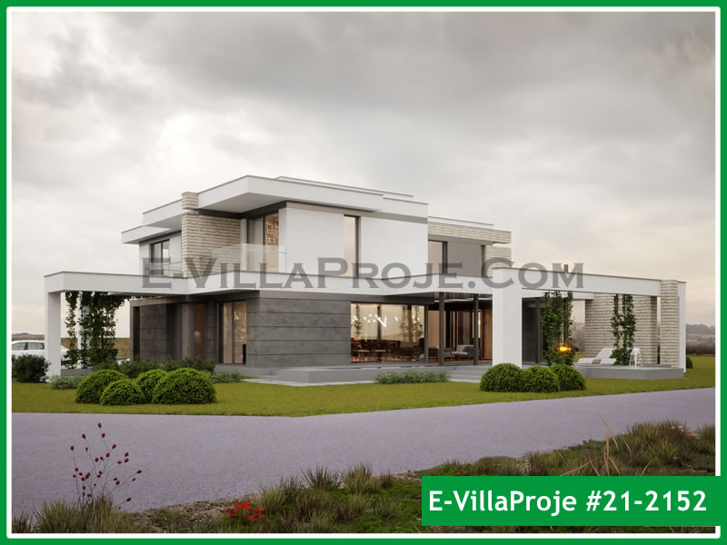 Ev Villa Proje #21 – 2152, 2 katlı, 2 yatak odalı, 3 garajlı, 316 m2